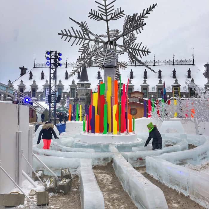 maze at the winter carnival