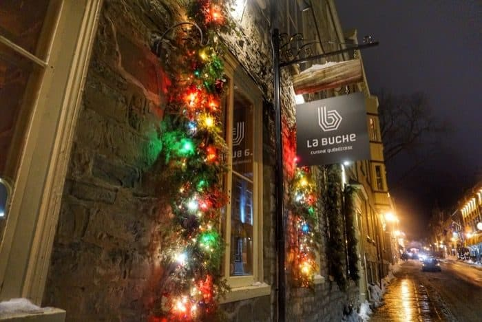 La Buche restaurant in Quebec City