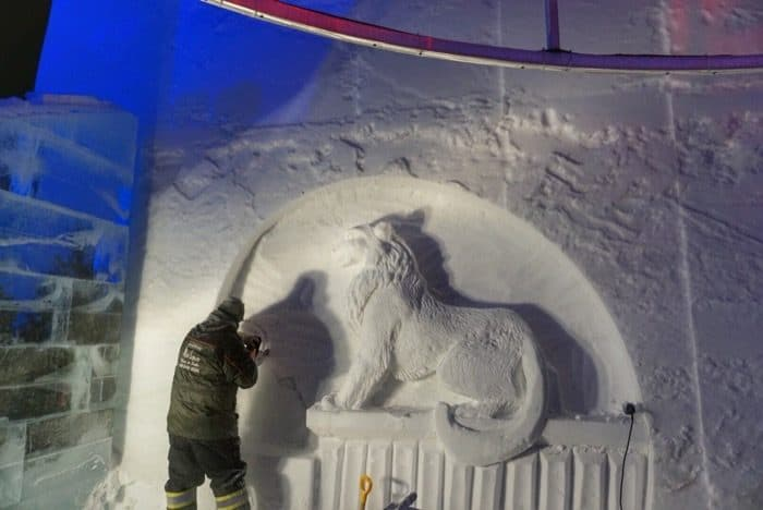snow carver at Winter Carnival in Quebec City
