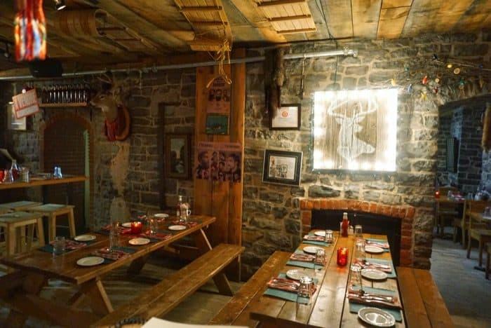 inside La Buche restaurant in Quebec City