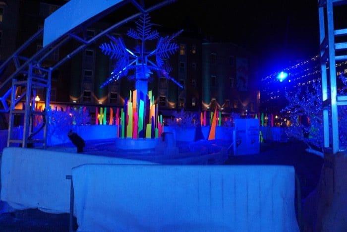 winter carnival at night