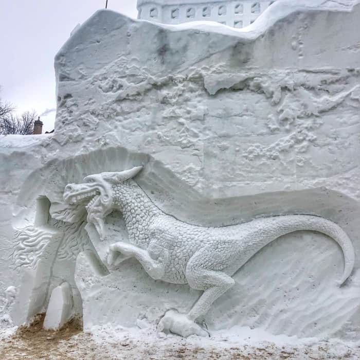 winter carnival dragon in Quebec City