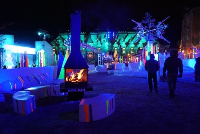 winter carnival warm up station