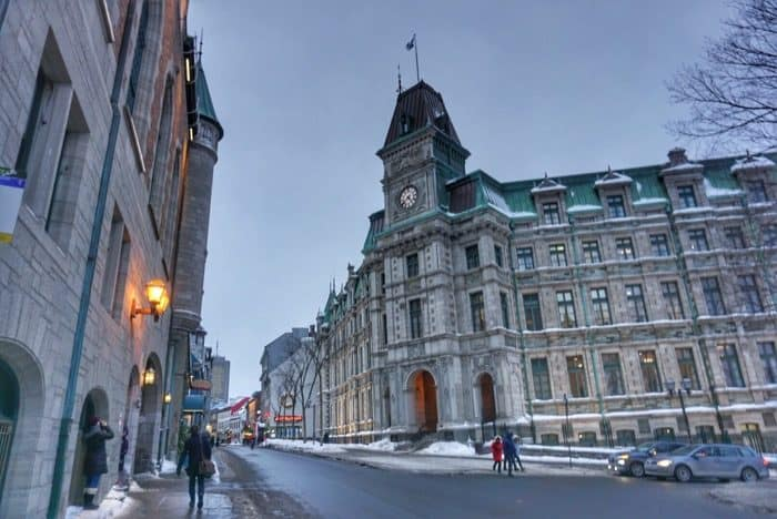 winter time in Quebec City
