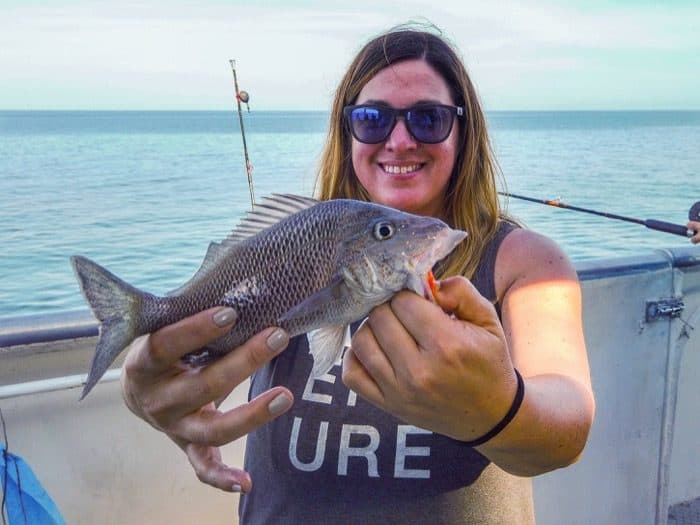 Adventure Mom fishing in Clearwater