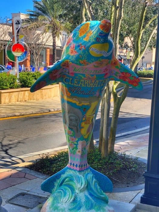 Dolphin art in Clearwater