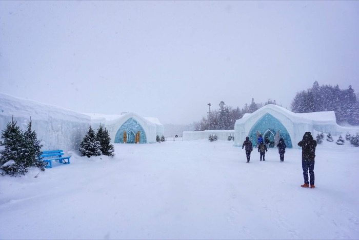 outside Chapel at Hotel de Glace Ice Hotel