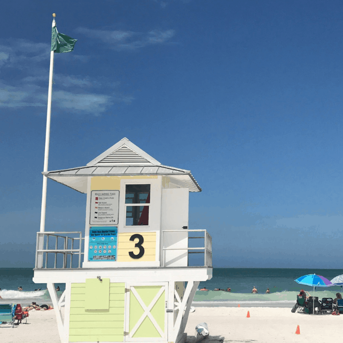 lifeguard stand Clearwater Beach