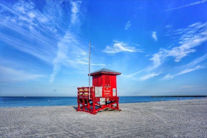 Sand Key Park at lifeguard stand