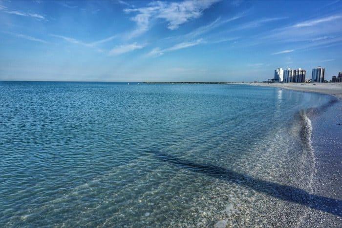 beach view Sand Key Park in Florida