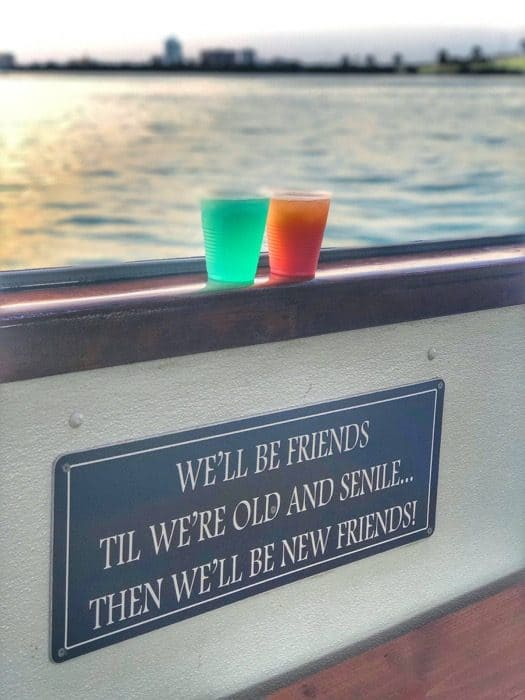 drinks on The Tropics Boat Tour