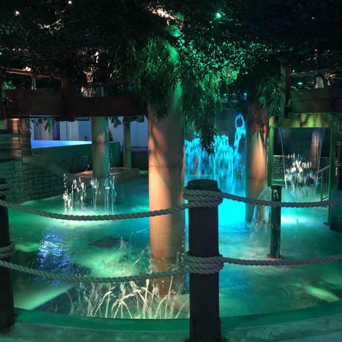 hot tub at Bora Parc indoor waterpark at Hotel Valcartier in Quebec