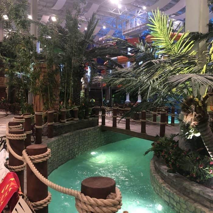lazy river at Bora Parc indoor waterpark at Hotel Valcartier in Quebec