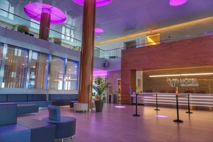 lobby at Hotel Valcartier