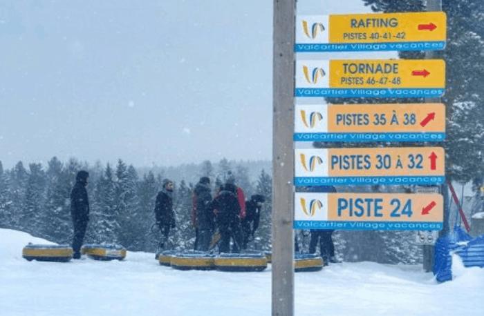 snow tubing at Hotel Valcartier