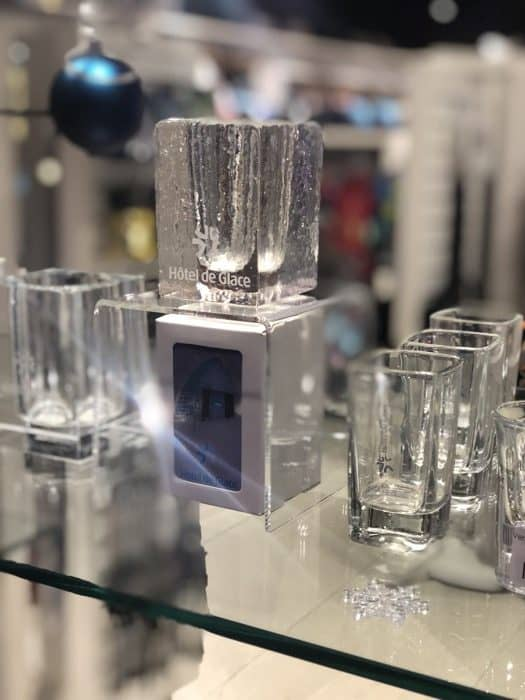 souvenir shot glass ice hotel