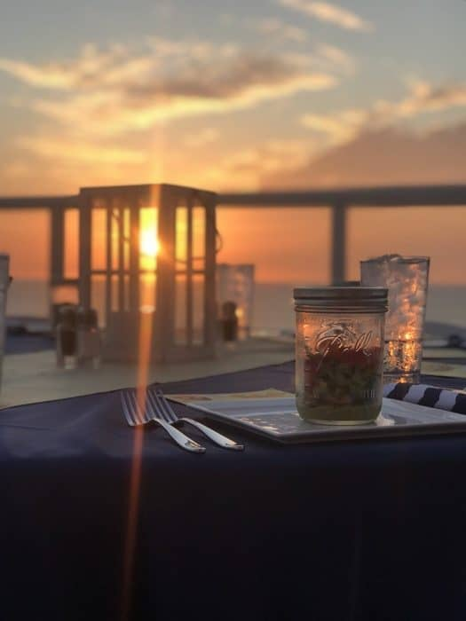 sunset dinner in Clearwater