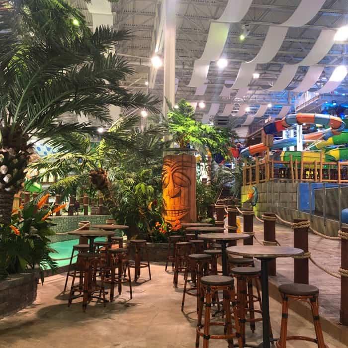 Bora Parc indoor waterpark at Hotel Valcartier in Quebec