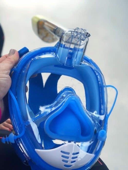 blue Full face snorkel