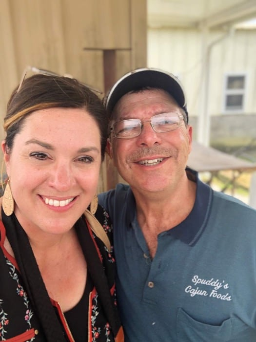 Nedra McDaniel and Spuddy from Spuddy's Cajun Foods
