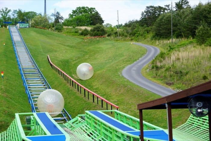 zorbing outdoor adventure at Outdoor Gravity Park