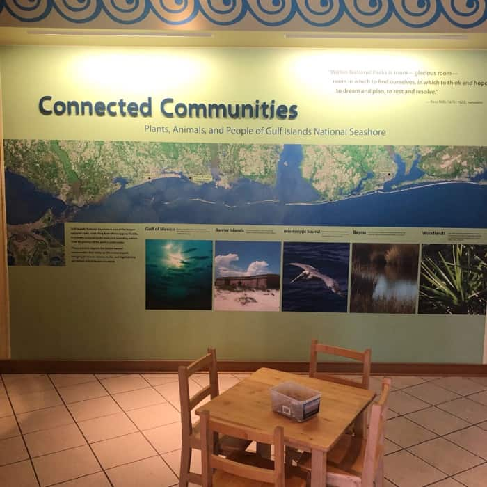 Visitor Center Exhibit at Gulf Islands National Seashore at Davis Bayou in Ocean Springs, MS