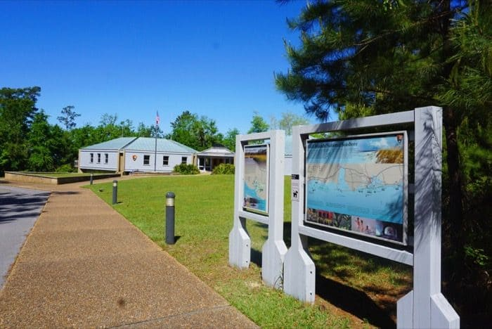 Visitor Center at Gulf Islands National Seashore at Davis Bayou in Ocean Springs, MS