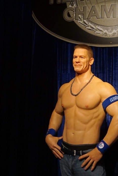 John Cena wax figure at Hollywood Wax Museum Pigeon Forge