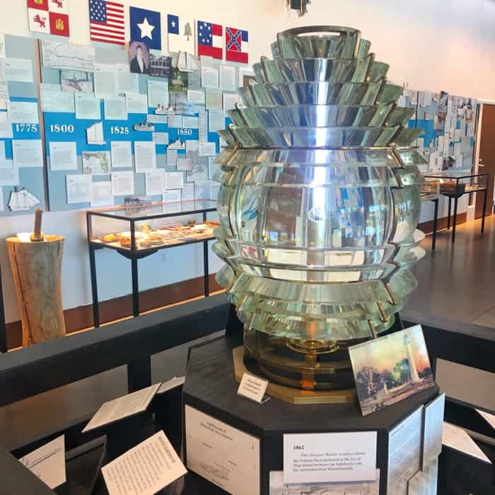 Lighthouse Glass Lens in Maritime & Seafood Industry Museum in Biloxi, MS