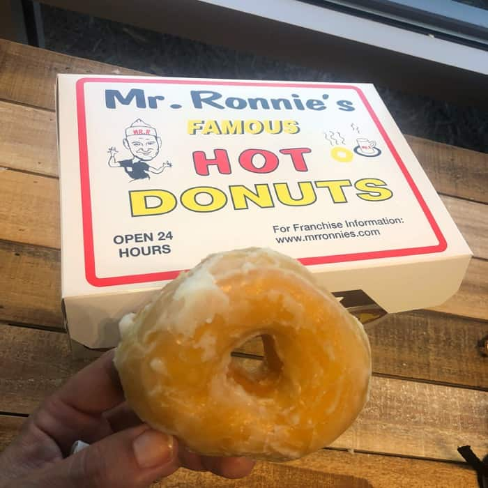 Mr. Ronnie's hot donuts at Houma Visitor Center in Louisiana