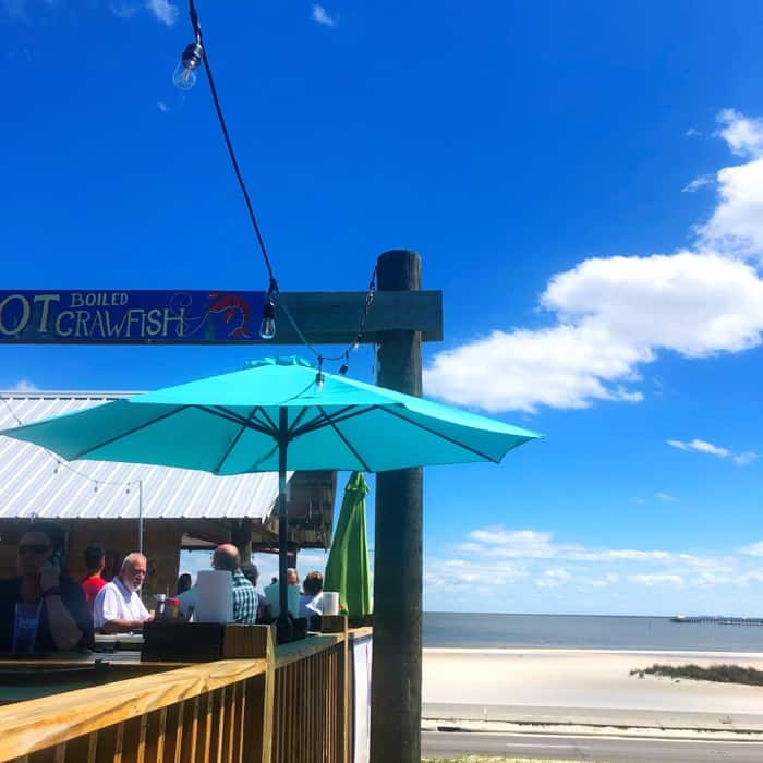 Outdoor Seating at Shaggy's Gulfport Beach in Gulfport, MS