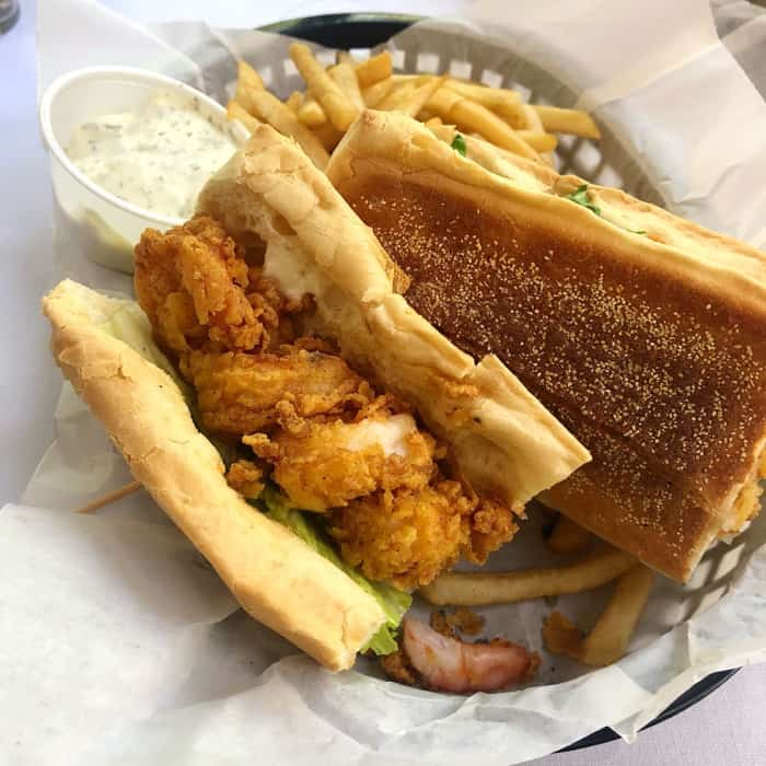 Shrimp Po Boy at Maison de Lu in Ocean Springs, MS