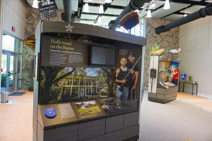 swamp people exhibit at Houma Visitor Center in Louisiana