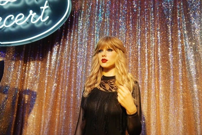 Taylor Swift wax figure at Hollywood Wax Museum Pigeon Forge
