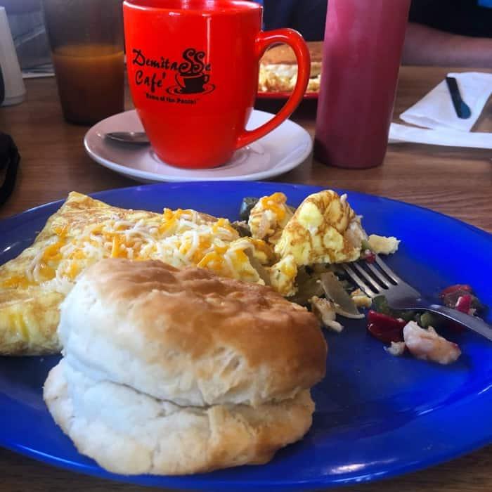 breakfast at Demitasse Cafe in Houma LA
