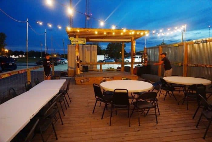 patio area at Cajun Critters Seafood in Houma LA
