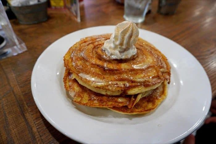 cinnamon roll pancake at Frizzle Chicken Farmhouse