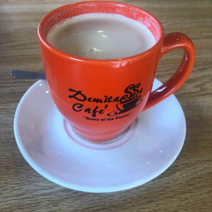 cafe au lait at Demitasse Cafe in Houma LA