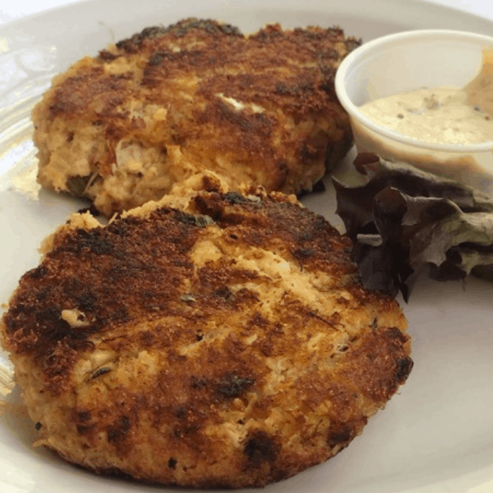 Crab cakes at Maison de Lu in Ocean Springs, MS