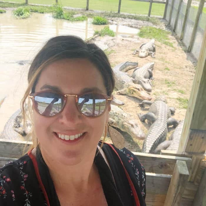 Nedra McDaniel at Greenwood Gator Farm