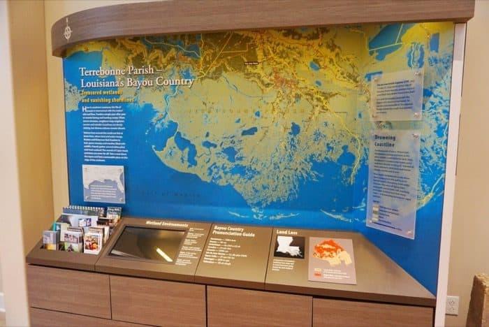 exhibit at Houma Visitor Center in Louisiana