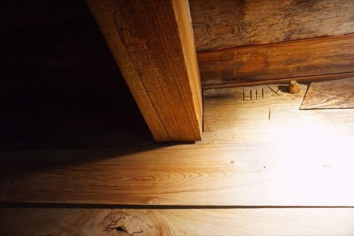 ceiling beams tour of Laura Plantation
