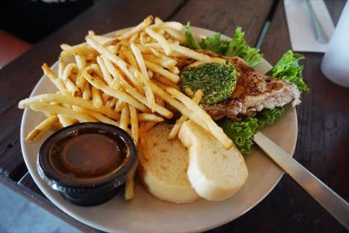 steak at Cajun Critters Seafood in Houma LA