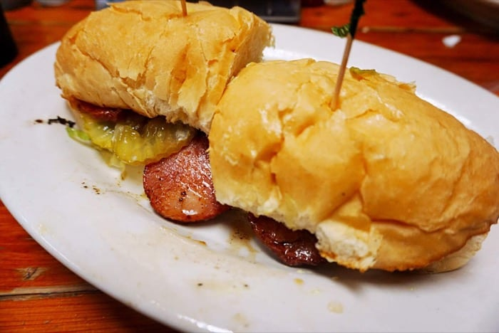 Andouille Po Boy at Spuddy's Cajun Foods