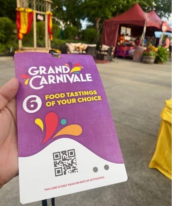 Tasting Card-grand-carnivale-kings-island