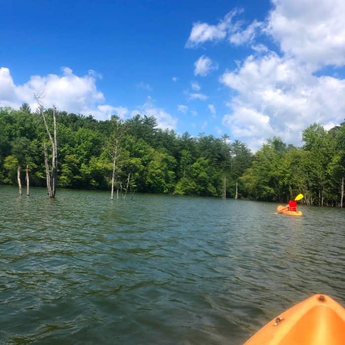 Kayaking at Lake James State Park