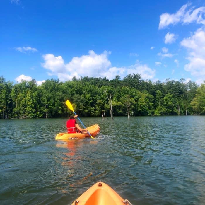 Kayaking at Paddy's Creek Recreation Area at Lake James State Park
