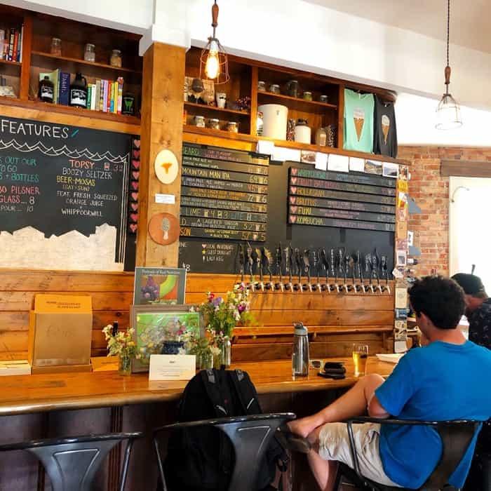 bar at Fonta Flora Brewery Morganton