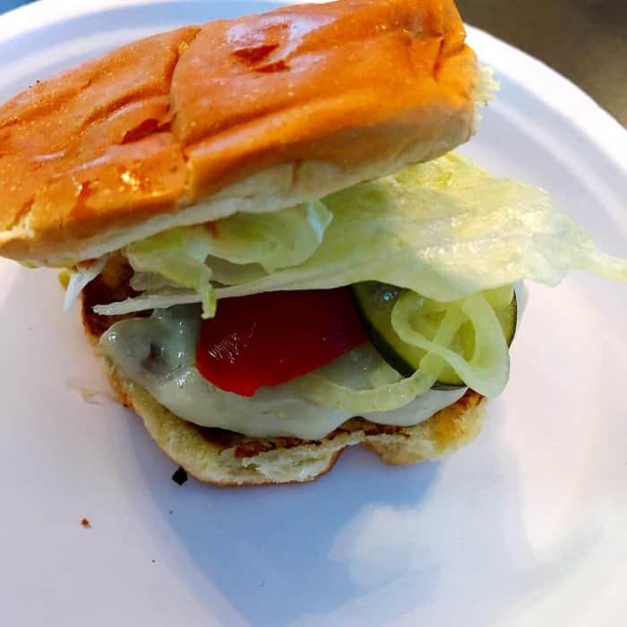 burger at Overhang Tavern