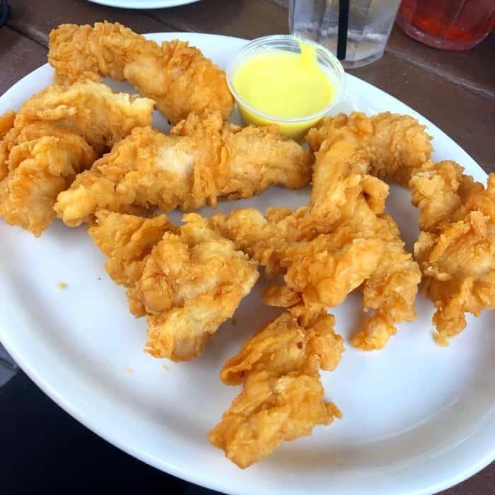 chicken tenders at Judge's Riverside Restaurant